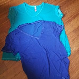 Gap Free People Beach sheer t-shirts XL ocean